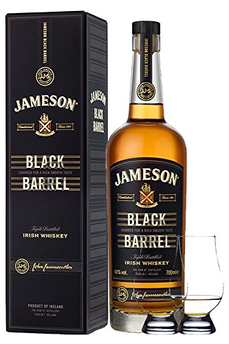 Jameson Select Reserve Black Barrel Small Batch 0,7 Liter+ 2 Glencairn Gläser Dublin Whiskey