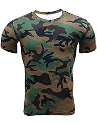 YiJee Deporte Kompressionsshirt Secado Rápido Camiseta de Compresión de Running para Hombre
