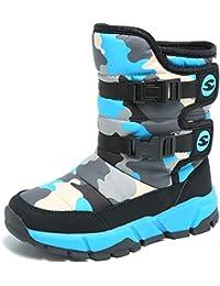 HAOBAN Winterstiefel Warm Gefütterte Winterschuhe Kinder Outdoor Schneestiefel Stiefel Winter Boots Rutschfeste Schneeboots Winter Schuhe für Jungen Mädchen