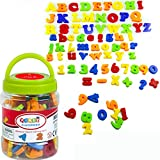 Simuer Magnetische Buchstaben und Zahlen ABC Alphabet Magnete Nummer Spielzeug Fridge Stickers Lernspielzeug für Kinder Geschenk set-78pcs