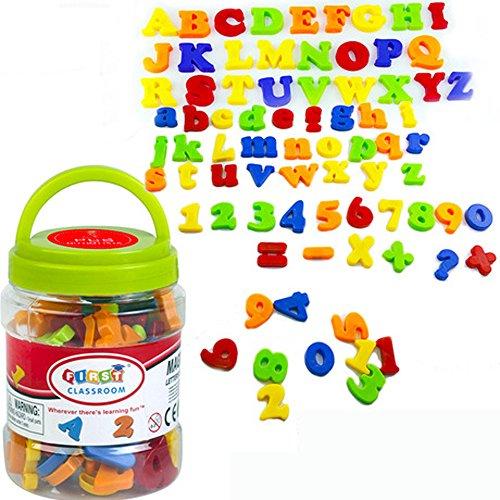 Simuer Magnetische Buchstaben und Zahlen ABC Alphabet Magnete Nummer Spielzeug Fridge Stickers Lernspielzeug für Kinder Geschenk set-82pcs