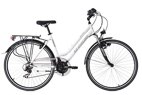 KS Cycling Damen Trekkingrad Montreal RH 48 cm Fahrrad, Weiß, 28