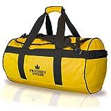 The Friendly Swede Wasserfeste Reisetasche Duffel Dry Bag Rucksack 60 und 90 Liter - Seesack, Duffle Bag (Gelb 60L)