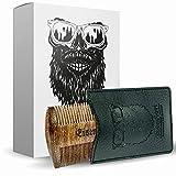 Bartkamm doppelseitig Holz von Eisenbart/Taschenkamm antistatische Bartpflege