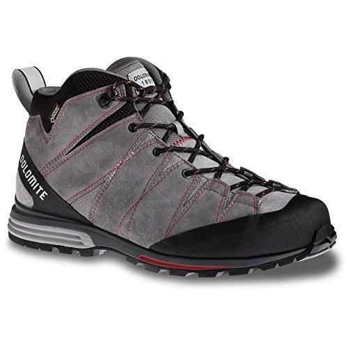 DOLOMITE - Scarpe da Trekking da Uomo Diagonal PRO Mid GTX, Iron Grey/Chili Red, 6 UK