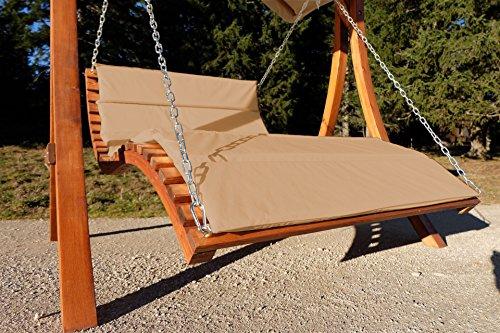 ASS Design Hollywoodliege 'Aruba-Lounger-BRAUN' aus Holz Lärche (ohne Gestell) von