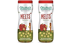 Timios Apple And Cinnamon Melts Healthy & Natural Baby Food 9+ Months - Pack Of 2