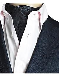 Kissing U Floral Cravat Ascot Soie Écharpes d'hommes Messieurs Paisley Jacquard Tissé Suit Accessoires