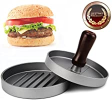 Burger Press, Allezola Hamburger Patty Maker, Non Stick Patty Mould, Hamburger Patty Maker Hamburger Grill BBQ Patty Maker Juicy - Ideal for BBQ