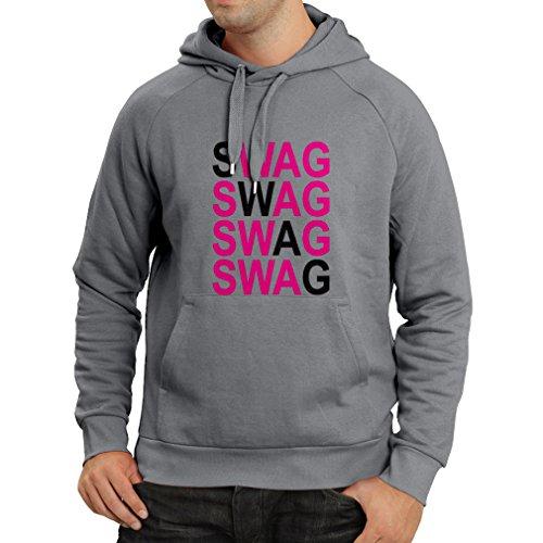 Felpa con cappuccio SWAG fashion, ti rappresenti, stile personale Grigio Magenta