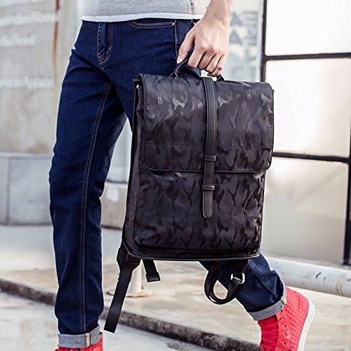 reise - rucksack an freizeit - college schoolbag männer,schwarze tarnung schwarze tarnung