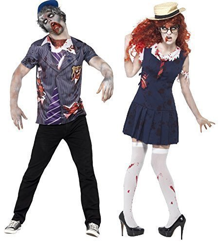 mbie nichtbeförderung Schule College Uniform Halloween Verkleidung Outfit - Blau, Ladies UK 8-10 & Mens Medium (Men's College Halloween Kostüme)