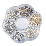Souarts Mixte Couleur Accessoires de bijoux Embouts à écraser 6mmx3mm 1 Boite