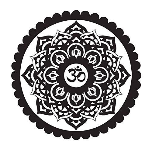 jiushizq Indische Wandkunst Malerei Auf Der Wand Om Zeichen Mandala Wandaufkleber Creation Adhesive Stickers Vinyl Wandtattoos 59 cm x 59 cm