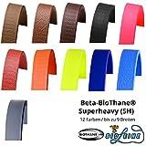 Beta BioThane Meterware Hellbraun 16 mm Breit und 3,6 mm (SuperHeavy) Dick [Auswahlmöglichkeit: 12 Farben und bis zu 7 Breiten]