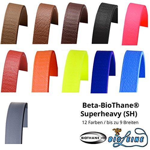 Beta BioThane Meterware Schwarz 19 mm breit und 3,6 mm (Superheavy) dick [Auswahlmöglichkeit: 12 Farben und bis zu 7 Breiten]