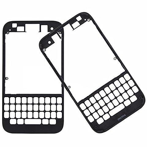 Bislinks® Boitier façade avant noir structure extérieure autoradio Façade de rechange pour Blackberry Q5