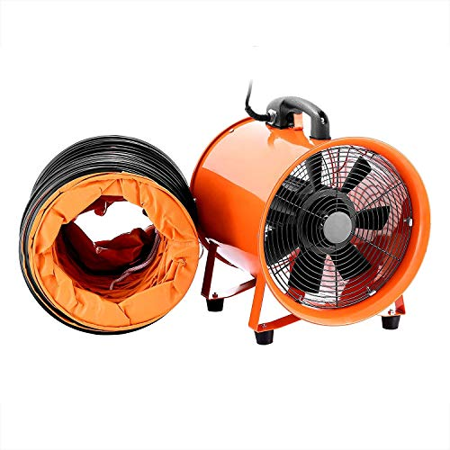 FlowerW 10 Inch 0.45HP Professionelle Bau Fan 250mm 1520CFM Bodenventilator Industrial Drum Fan Mit Flexible Schlauch - Gebläse-schlauch
