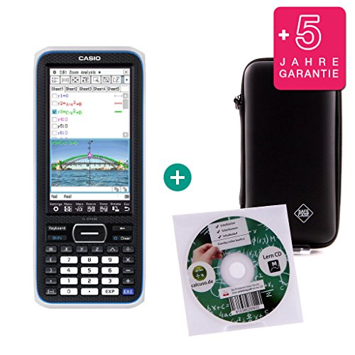 Casio Streberpaket Classpad II (FX-CP 400) + Erweiterte Garantie + Lern-CD (auf Deutsch) + Schutztasche
