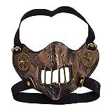 BESSUME gótico Punk Steampunk Engranaje Máscara Moda Unisexo Cosplay Cara Máscara (Bronze)