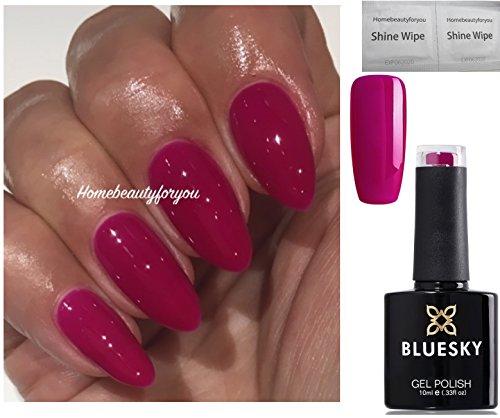 Vernis à ongles Bluesky Neon 13 cassis, rose, foncé, framboise, gel UV LED dissoluble de 10 ml plus 2 lingettes brillantes Luvlinail