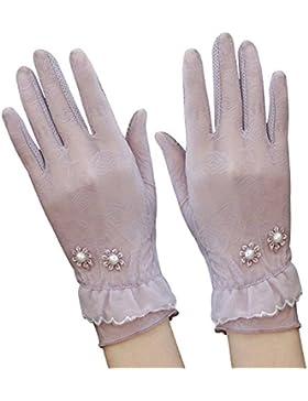 Eizur 1 Paio Donne UV Protezione Estate Guanti Touch screen Corti guida guanti di pizzo eleganti guanti corti...