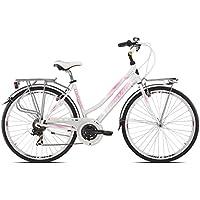 """'Torpado vélo City fenice Next 28""""Femme Alu 3x 7V taille 52Blanc Rose (City)/Bicycle City fenice Next 28Lady alu 3x 7S Size 52white pink (City)"""