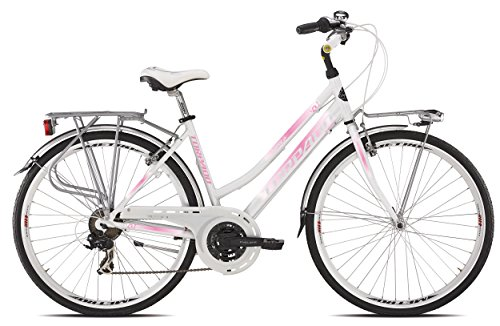'TORPADO Fahrrad City Fenice Next 28 Zoll Damen Alu 3 x 7 V Gr. 52 weiß pink (City)/Bicycle City Fenice Next 28 Lady Alu 3 x 7s Size 52 White Pink (City) (Pink Und City And Colour)