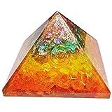Equilibrio de orgón Orgonite Semipreciosa pirámide de energía Generador de Energía Spritual