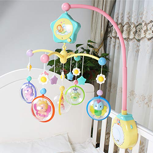 GoAppuGo Cute Fairy Musical Cot Mobile with Light and Battery Operated Rotation, Hanging Musical Toys for Babies for Cribs, cots, beds, Cradle Bassinet