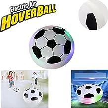 Air Hover Ball & Air Power Soccer Ball, Giochi Calcio da Esterno per Bambini, Giochi Interno per Bambino, Regali di Compleanno per Ragazze e Ragazzi, con Luci LED & Morbido Schiuma Paraurti. (Bianco)