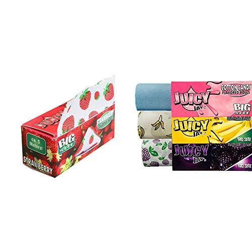 Unbekannt Juicy Jays Roll 5 Meter aromatisiertes Zigarettenpapier - Big Size - vertrieb durch ABAV (9 x Zufällige Geschmack)