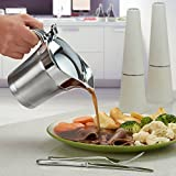 Koölle Stainless Steel Gravy Boat Sauce Jug Double Insulated / Walled Hinged Lid 500ml Capacity - 2 Year Warranty
