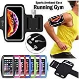 RIYA Products Waterproof Hand Fitness Gym Case Arm Band for Jogging Armband & Key Holder Sports Armband for 6.3 Inch Mobile. Model 187669