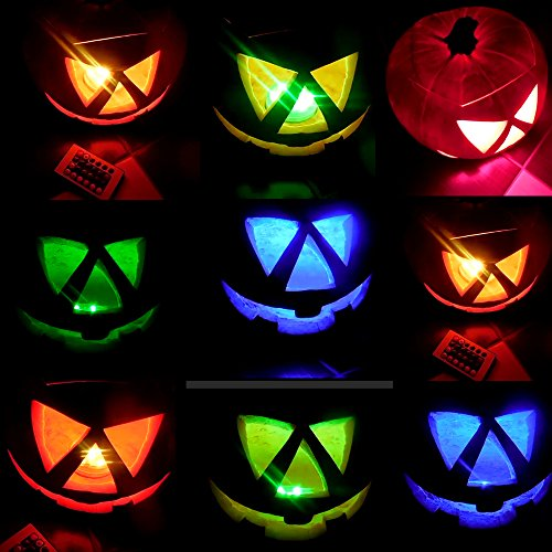 Multicolor RGB LED luz subacuática con mando a distancia, kitosun LED Luz Magia Cambio de color agua Densidad LED Leuchten Estanque Iluminación para Jarrón Base, floral, Acuario, Estanque, bodas, halloween, fiesta, navidad