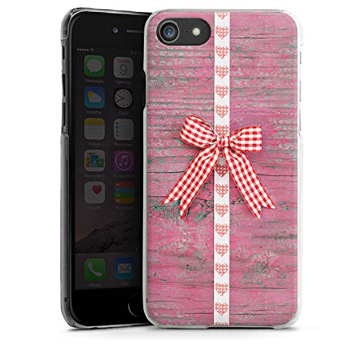 Apple iPhone X Silikon Hülle Case Schutzhülle Schleife Herz Holz Oktoberfest Hard Case transparent