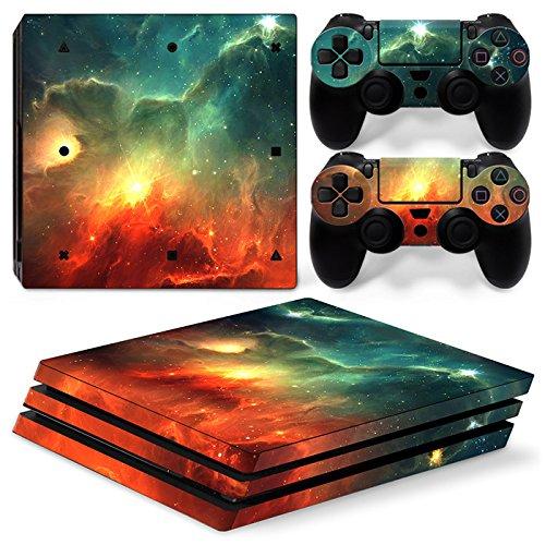 ZoomHit PS4 PRO Playstation 4 Konsole Skin Sticker Sky Galaxy + 2 Controller Skins Set - 4 Playstation Destiny Konsole