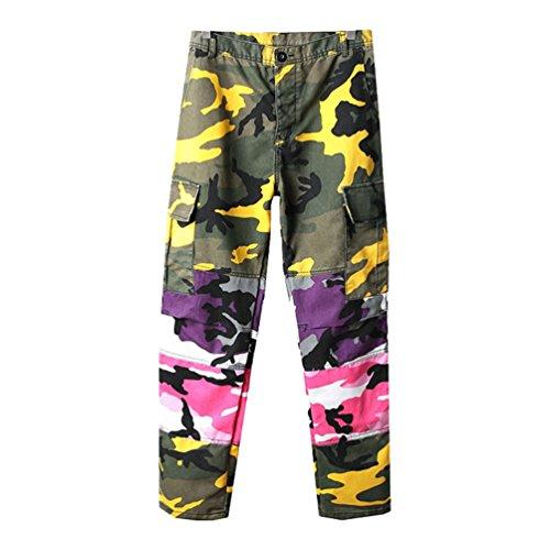 Xinwcang Hombre Pantalon Cargo Camuflaje Pantalones Casuales Jogger Pants Work Trousers Sweatpant Azul 2XL