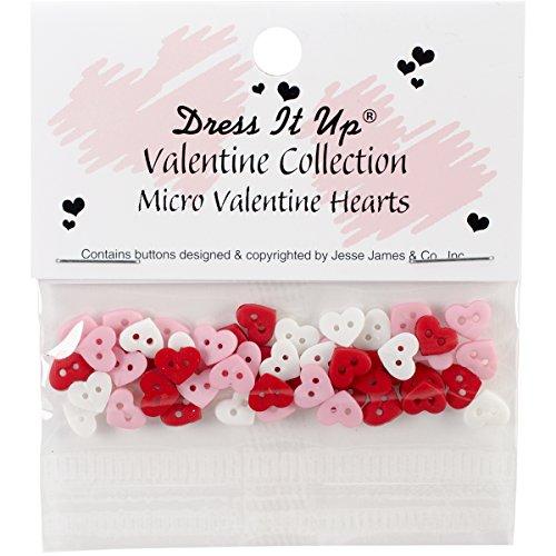 Unbekannt Kleid IT UP 20.579,1cm Micro Mini Valentine Herzen-Tasten (Knöpfe Nähen Neuheit)