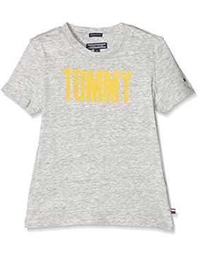 Tommy Hilfiger Ame Flock Cn tee S/S, Camiseta para Niños