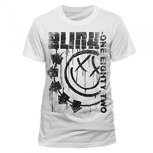 Collectors Mine Herren T-Shirt Blink 182-Spelled Out Weiß