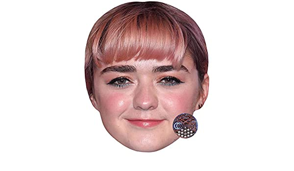 Celebrity Mask Pink Hair Card Face Maisie Williams