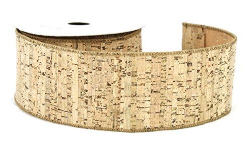 2.5-inch-by-10-yard birch-like Kork Band mit Drahtkante, (Yard 10 Natürlichen)