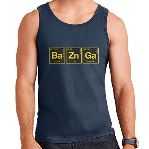 Bazinga Chemical Symbols Big Bang Threory Men's Vest Navy Blue