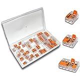 WAGO 35 Stück Set Sortiment 15x 221-412 | 10x 221-413 | 10x 221-415 in praktischer Klarsichtdose Sortimentsbox