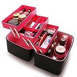HUIJU Große Kapazität Kosmetiktasche Portable Mehrzweck-Kosmetikkoffer Einfache Tragbare Kosmetik Korea Aufbewahrungstasche Faltbare Make-up Tasche, 2
