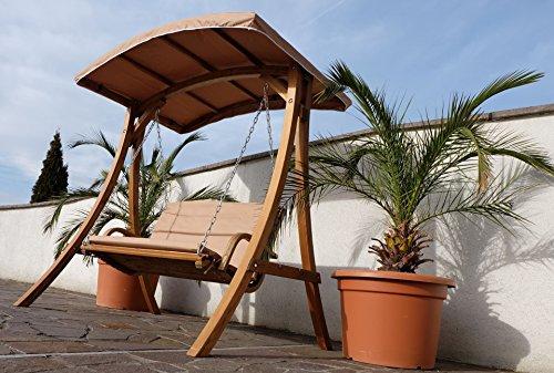 Design Hollywoodschaukel RIO aus Holz Lärche mit Dach von AS-S - 6