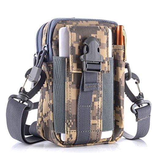 AireLibre Wandern Hüfttasche Taktische Tasche Tactical Pouch Kompakte Mehrzweck-Dienstprogramm Gadget Tool Gürtel Gürteltasche Pack für Outdoor Wandern Camping Radfahren Angeln täglichen Gebrauch (ACU) (Gürtel Pen Tasche)