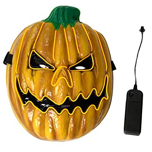 Scary Für Jugendliche Kostüm - Eliky Halloween Scary Maske EL Draht LED Leuchten Kostüm Tod Schädel Geist Kürbis Cosplay Festival Party Dekoration