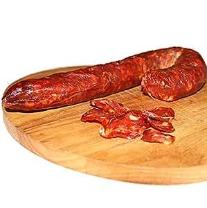 Salsiccia Piccante Salame Artigianale Sottovuoto Stagionata Specialità Calabrese con Peperoncino